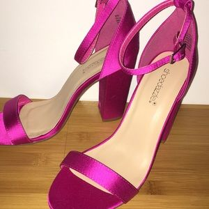 Pink Neri Block Heels